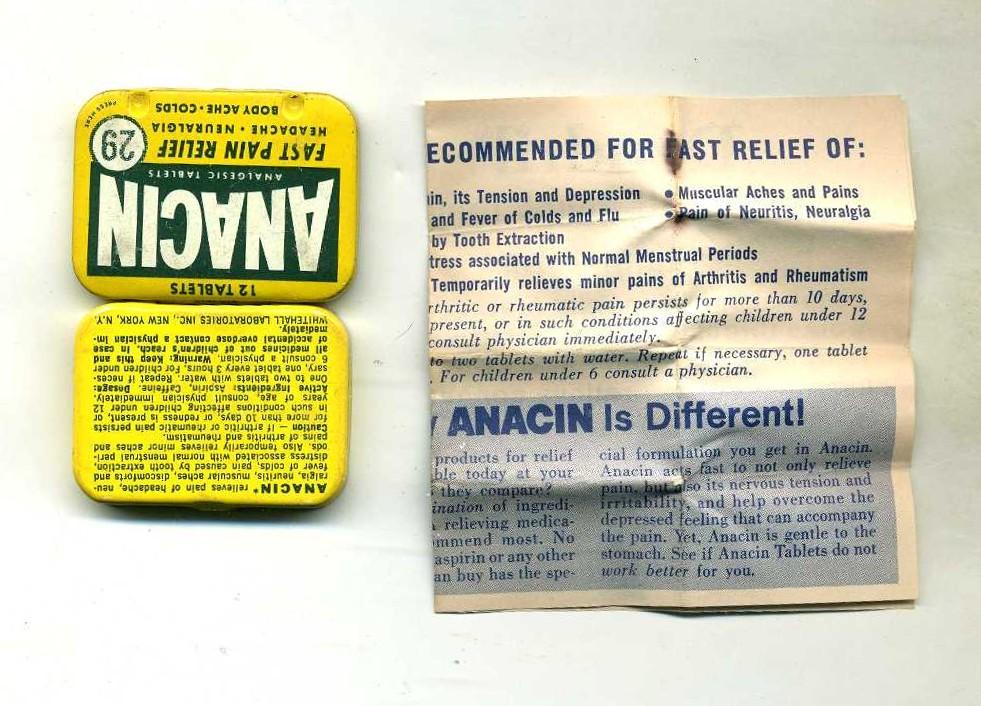 Anacin Aspirin Tin