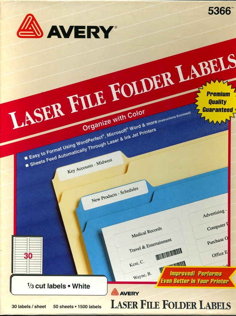 5366 file folder labels