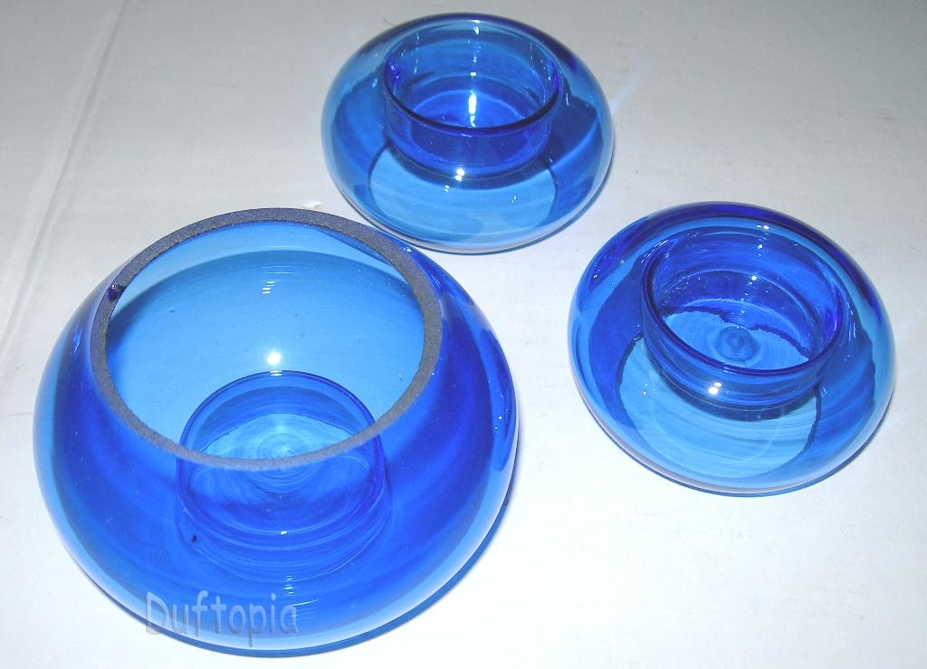 Kerzenhalter Aus Glas Kerzen Blue Glass Candle Holders