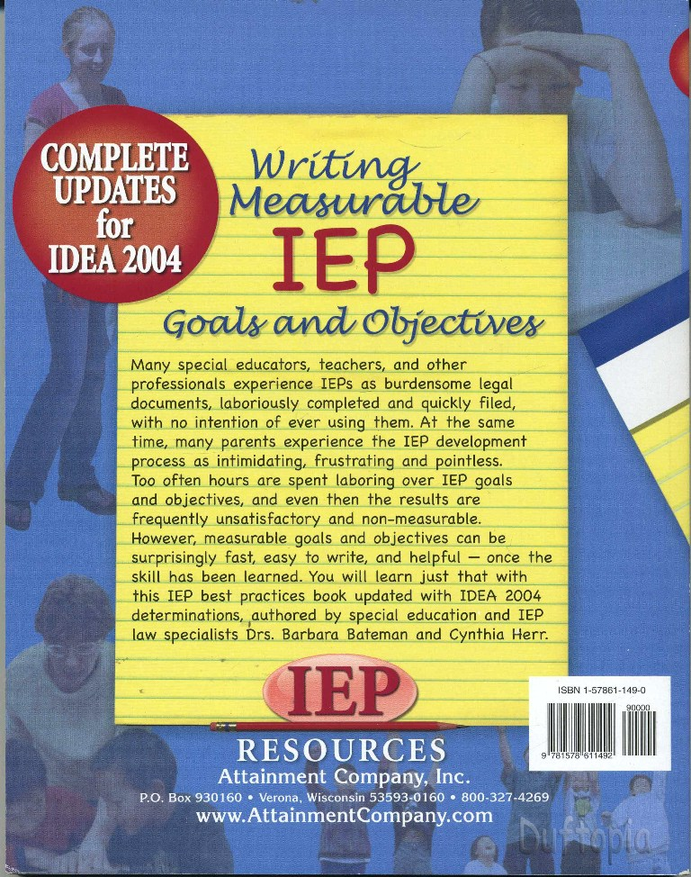 writing goals for iep