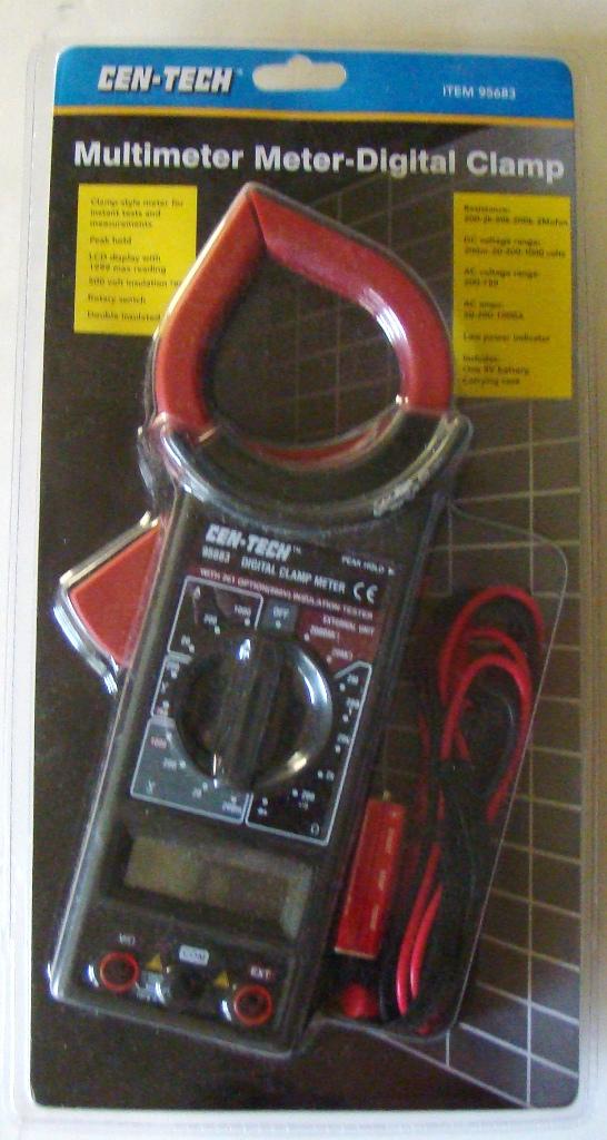 Cen Tech Digital Clamp Meter Mini : Cen tech multimeter meter digital clamp nib