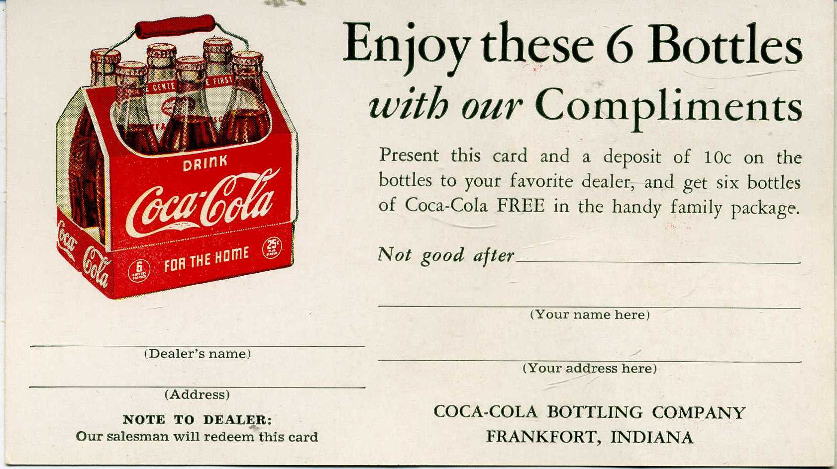 "In Coca Cola made a lucky watch fob in the shape of a swastika with the slogan, ""Drink Coca Cola five cents in bottles."" At that time, the Swastika was still a symbol of 'Good Luck'."
