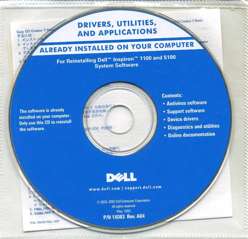 Software Disc Dell Drivers and Utilities for Already Installed on Your Dell Pc